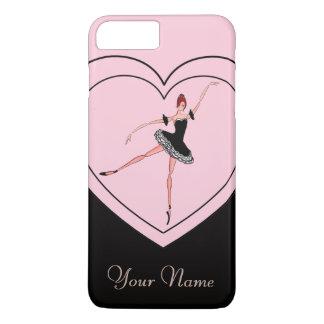 個人的なバレエの電話箱、エレガントなバレリーナ iPhone 7 PLUSケース
