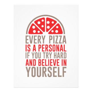 個人的なピザ レターヘッド