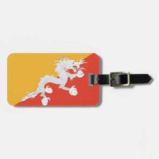 個人的なブータンの簡単IDの旗 ラゲッジタグ