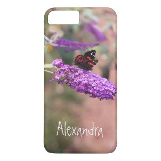 個人的な写真の紫色の黒い蝶 iPhone 8 PLUS/7 PLUSケース