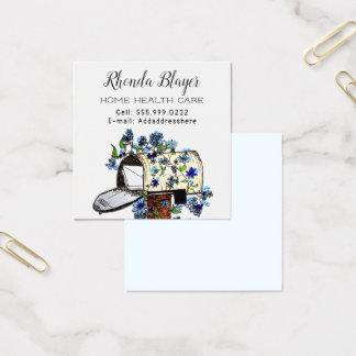 個人的な家庭ベースの事業広告カード スクエア名刺
