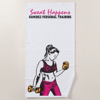 個人的な訓練の女性の重量挙げタオル ビーチタオル