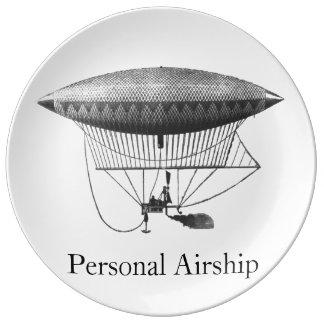 個人的な飛行船 磁器プレート