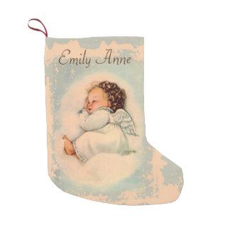 倍が天使によってが飛ぶ名前入りなベビーは味方しました スモールクリスマスストッキング