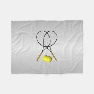 倍のテニスのスポーツのテーマ フリースブランケット