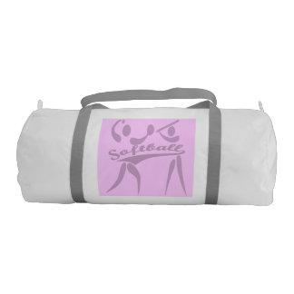 倍はピンク及び紫色のソフトボールの体育館のバッグ味方しました ジムダッフルバッグ
