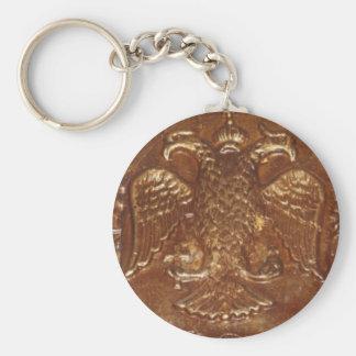 倍はワシのビザンツ帝国の紋章付き外衣の先頭に立ちました キーホルダー