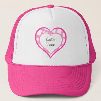 倍増するバレンタインのハート女性チーム キャップ