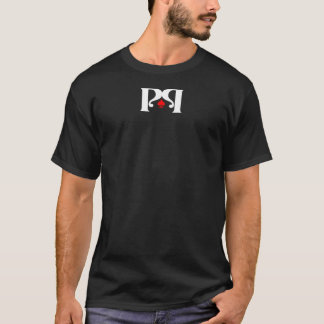倍「P」のロゴ-暗闇 Tシャツ