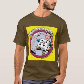 倒れかけたサイコロの満月の挽肉料理のワイシャツ Tシャツ