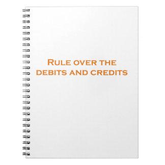借方および信用上の規則 ノートブック