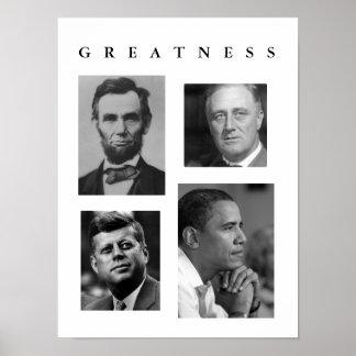 偉大さポスターリンカーン、FDR、JFK、オバマ ポスター
