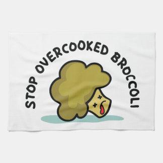 停止によって調理し過ぎられるブロッコリー キッチンタオル