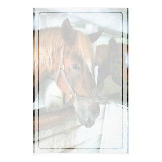停止のブラウンの馬 便箋