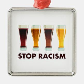 停止アルコール人種的優越感ビール平等 メタルオーナメント
