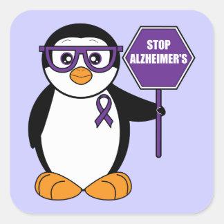 停止アルツハイマー病: 印を持つペンギン スクエアシール