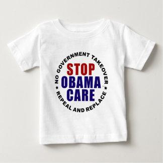 停止オバマケア ベビーTシャツ