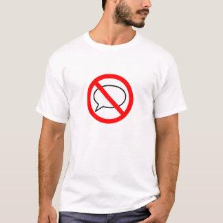 停止スピーチ Tシャツ