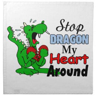停止ドラゴン私のハート ナプキンクロス