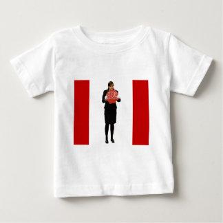 停止ハープ奏者 ベビーTシャツ