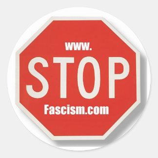 停止ファシズム停止印のステッカー ラウンドシール