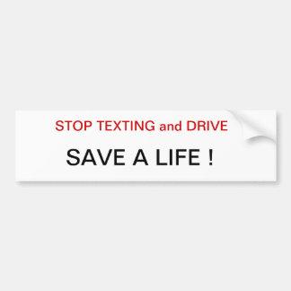 停止メールや文字を打つの運転者は生命バンパーステッカーstを救います バンパーステッカー