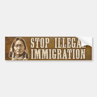 停止不法移民のバンパーステッカー バンパーステッカー