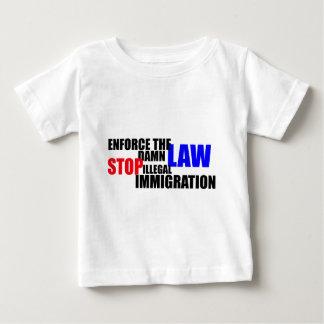 停止不法移民 ベビーTシャツ