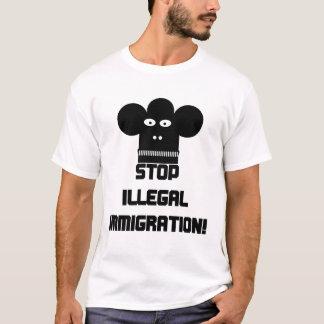 停止不法移民! Tシャツ