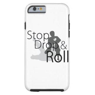 停止低下およびロールiPhoneの場合 ケース