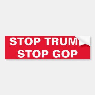 停止切札、停止GOP バンパーステッカー