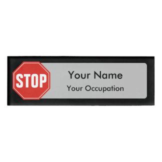 停止印の名札 名札