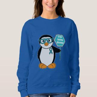 停止印を持つ当て木の病気の認識度のペンギン スウェットシャツ