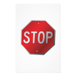 停止印 便箋