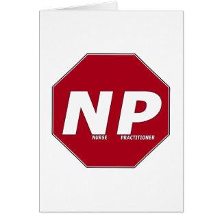 停止印NP -ナースの従業者 カード