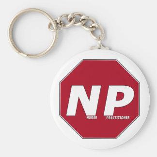 停止印NP -ナースの従業者 キーホルダー