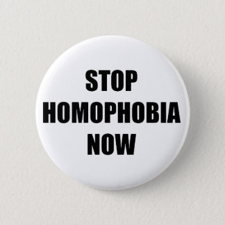 停止同性愛恐怖症 5.7CM 丸型バッジ