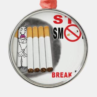 停止喫煙のメモ-これ以上のお尻 メタルオーナメント