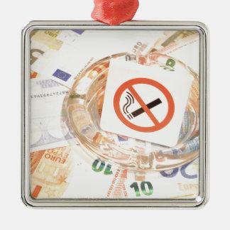停止喫煙 メタルオーナメント