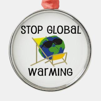 停止地球温暖化 メタルオーナメント