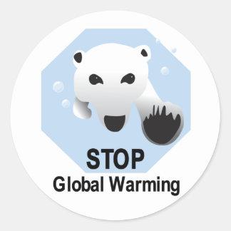 停止地球温暖化 ラウンドシール