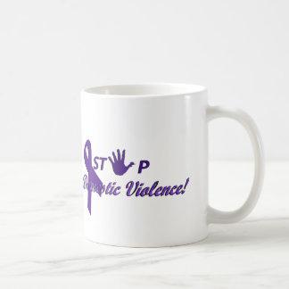 停止家庭内暴力のマグ コーヒーマグカップ
