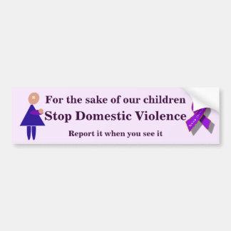 停止家庭内暴力 バンパーステッカー