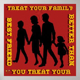 停止家庭内暴力/御馳走あなたの家族 ポスター