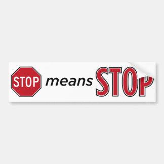 停止平均停止 バンパーステッカー