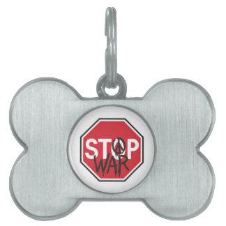 停止戦争 ペットネームタグ