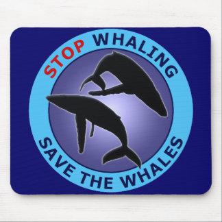 停止捕鯨保存クジラ マウスパッド