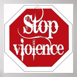停止暴力 ポスター