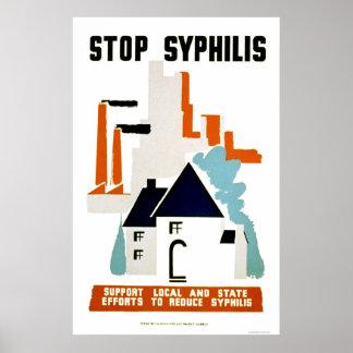 停止梅毒1940 WPA ポスター