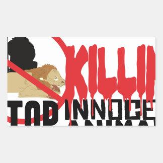 停止殺害動物 長方形シール